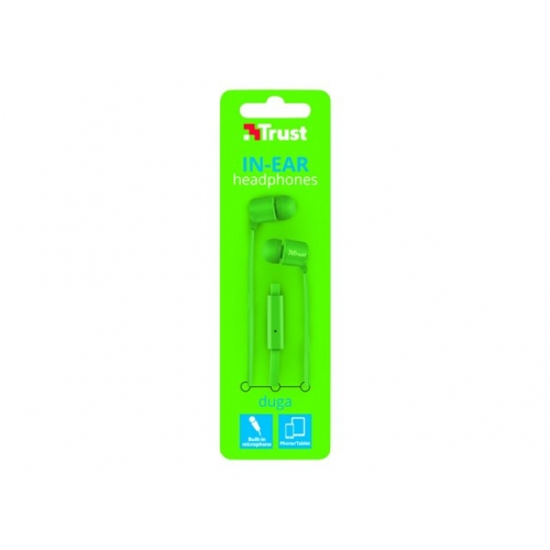 AURICULAR CON CABLE IN EAR TRUST DUGA NEON GREEN 22108