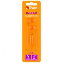 AURICULAR CON CABLE IN EAR TRUST DUGA NEON ORANGE 22111