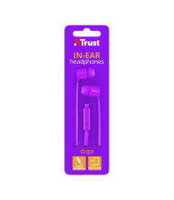 AURICULAR CON CABLE IN EAR TRUST DUGA  NEON PURPURA 22110